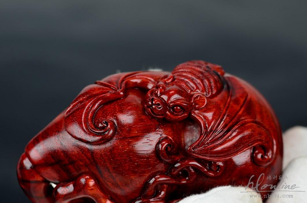 红木手把件福禄葫芦图展示