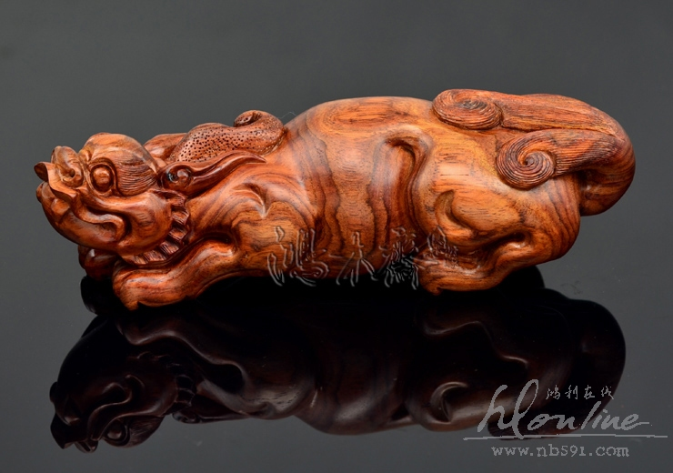 百吉雕刻海南黄花梨木雕摆件百吉雕刻海黄貔貅手把件