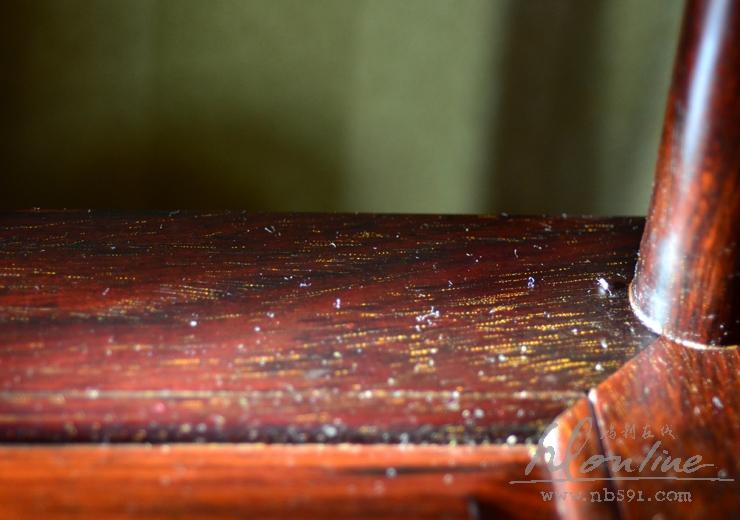 老挝红酸枝明式圈椅一套交趾黄檀明式圈椅 老红木圈椅一套 (7).JPG
