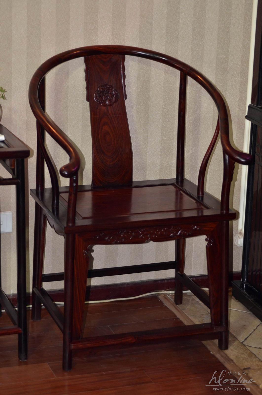 老挝红酸枝明式圈椅一套交趾黄檀明式圈椅 老红木圈椅一套 (3).JPG