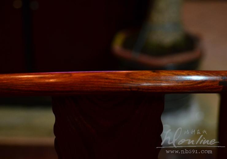 老挝红酸枝明式圈椅一套交趾黄檀明式圈椅 老红木圈椅一套 (29).JPG