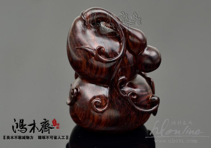百吉雕刻葫芦福禄海南黄花梨老料手工雕刻葫芦海黄葫芦H1753已结缘
