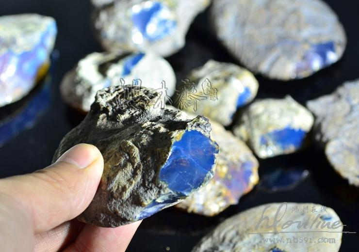 多米尼加蓝珀原矿原料多米尼加蓝珀顶级原石 (7).JPG