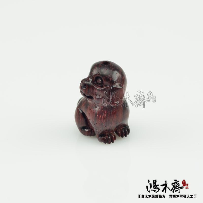 百吉雕刻貔貅正宗印度小叶紫檀鸿木斋包邮Z709 (3).JPG