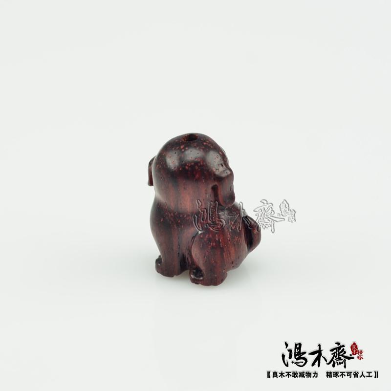 百吉雕刻貔貅正宗印度小叶紫檀鸿木斋包邮Z709 (2).JPG