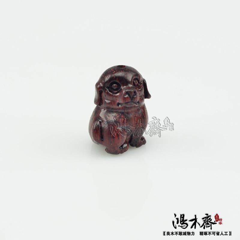 百吉雕刻貔貅正宗印度小叶紫檀鸿木斋包邮Z709 (4).JPG