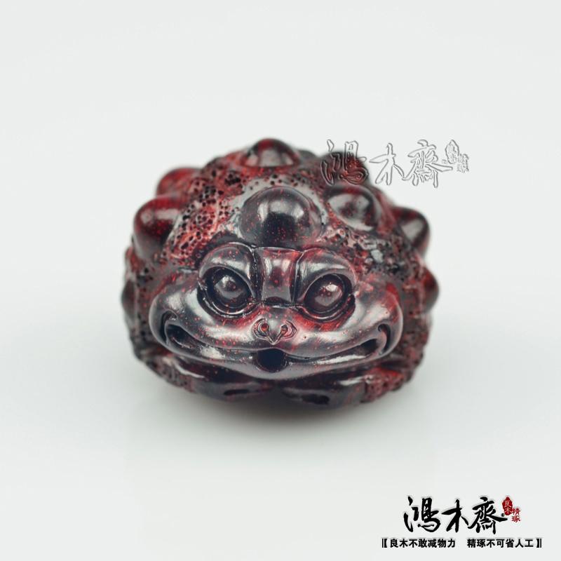 百吉雕刻貔貅正宗印度小叶紫檀鸿木斋包邮Z710 (4).JPG