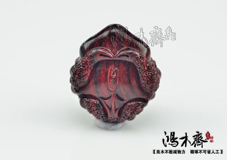 百吉雕刻貔貅正宗印度小叶紫檀鸿木斋包邮Z710 (6).JPG