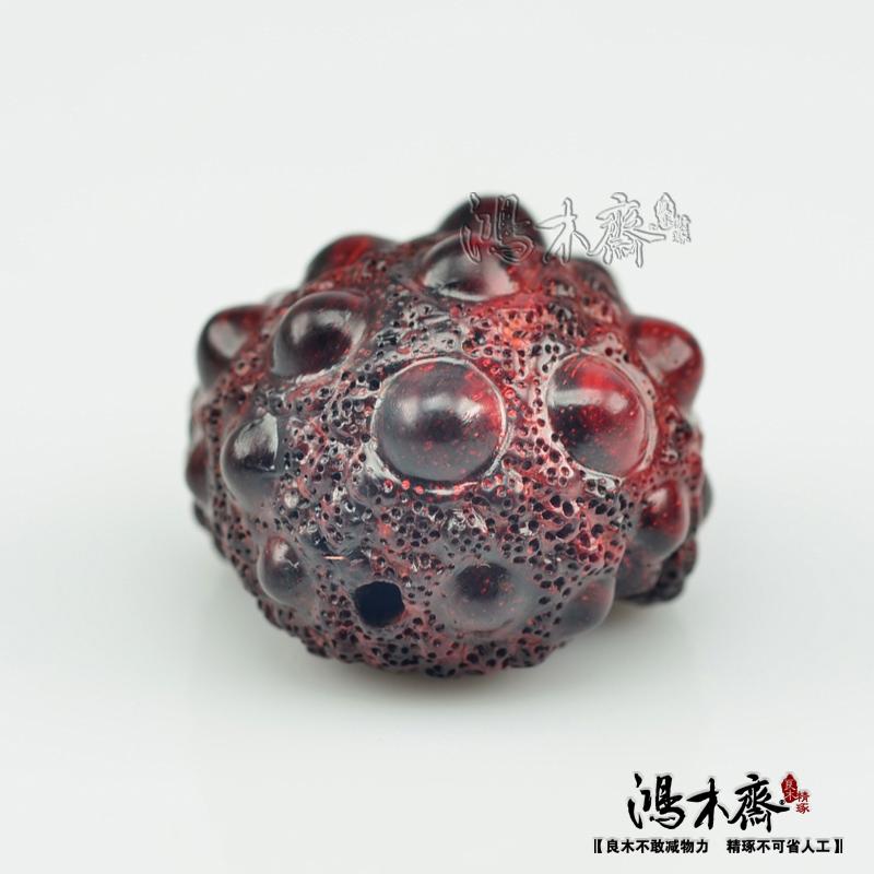 百吉雕刻貔貅正宗印度小叶紫檀鸿木斋包邮Z710 (5).JPG