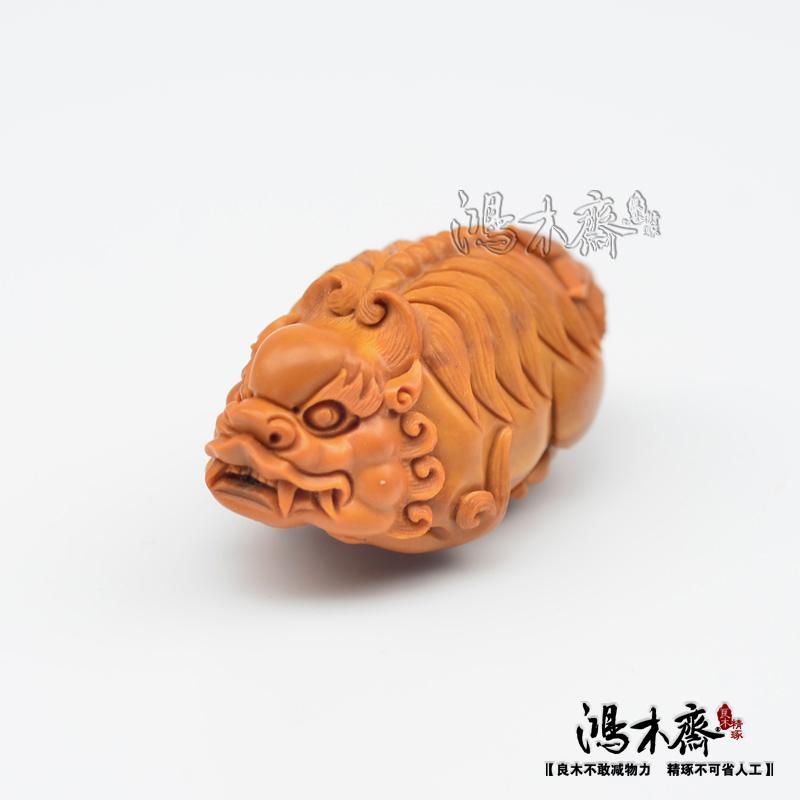 百吉雕刻橄榄核雕貔貅仲庸款大单核吊坠孤品鸿木斋包邮G10 (3).JPG