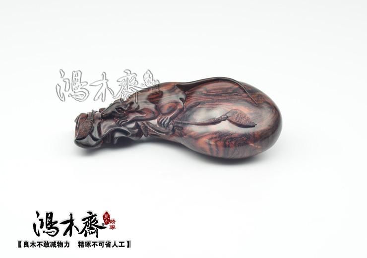 老鼠��h�_百吉雕刻海南黄花梨手把件老鼠钱袋正宗海南西部老料h