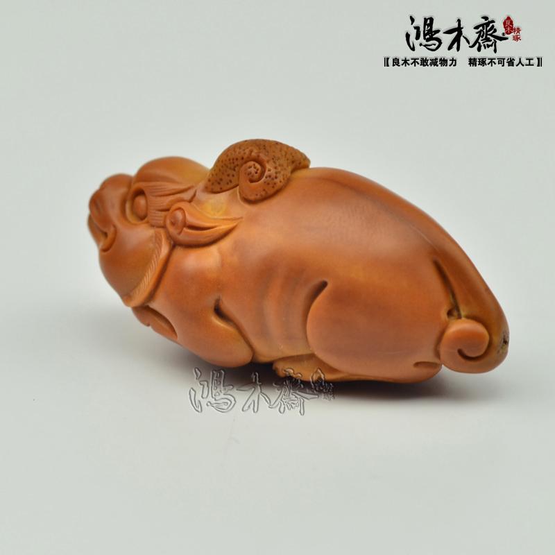 百吉橄榄核雕刻 单子大核 百吉款 螭虎 百吉雕刻橄榄核 G29 (4).JPG