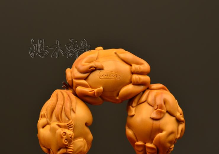 百吉雕刻 橄榄核雕 手串 2014年新款马上封侯大籽 10颗G38 (11).JPG
