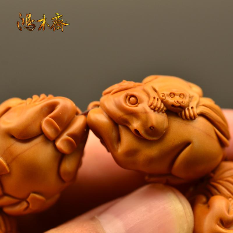 百吉雕刻 橄榄核雕 手串 2014年新款马上封侯大籽 10颗G38 (4).JPG