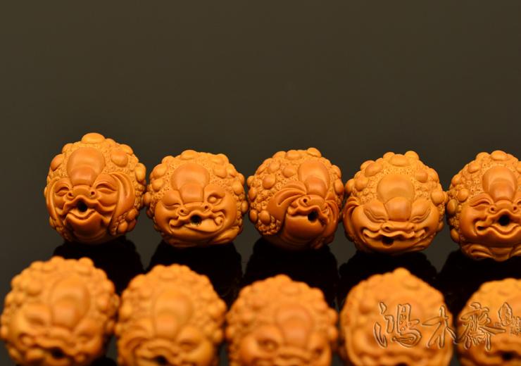 百吉雕刻 橄榄核雕 手串 百吉款金蟾手串 大籽10颗G40 (12).JPG