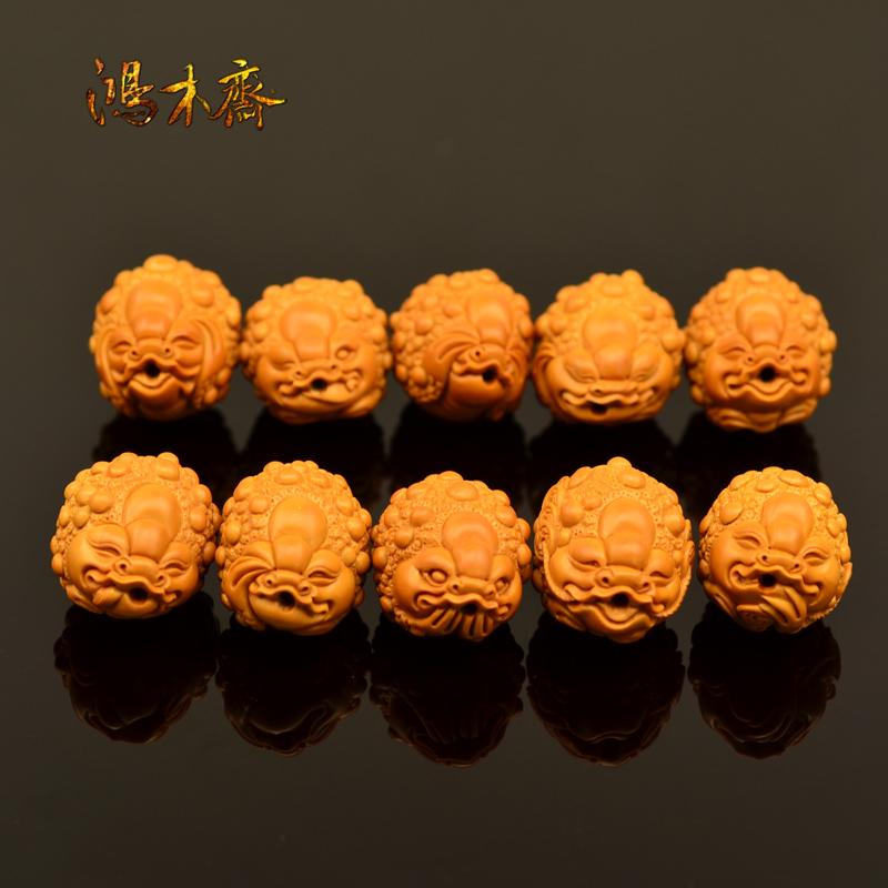 百吉雕刻 橄榄核雕 手串 百吉款金蟾手串 大籽10颗G40 (4).JPG