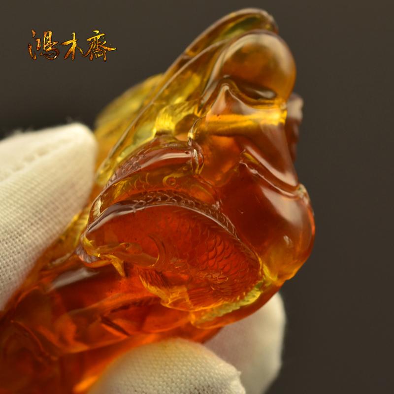 螃蟹抓鱼缅甸琥珀HP130 (5).JPG
