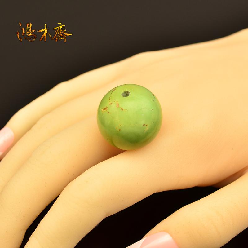 鸿木斋 松石散珠 原矿无优化 高瓷淡绿色 湖北郧西 孤品S276 (4).JPG