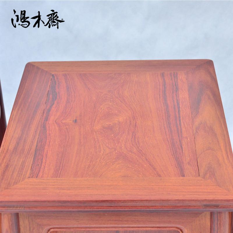 鸿木斋 红酸枝 四出头大号管帽椅 明式 红木家具 孤品HJJ11 (4.1).JPG