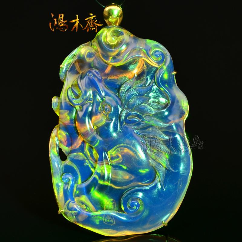 多米尼加蓝珀蓝珀雕刻大吊坠 (2).JPG