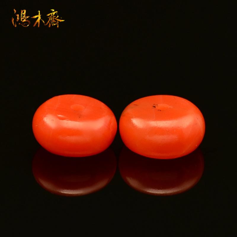 鸿木斋 南红玛瑙散珠 纯天然保山锦红 腰珠 孤品 N1678 (3).JPG