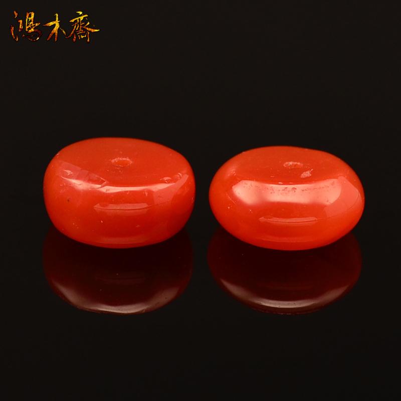 鸿木斋 天然南红散珠 四川联合料 腰珠 孤品 N1838  (2).JPG