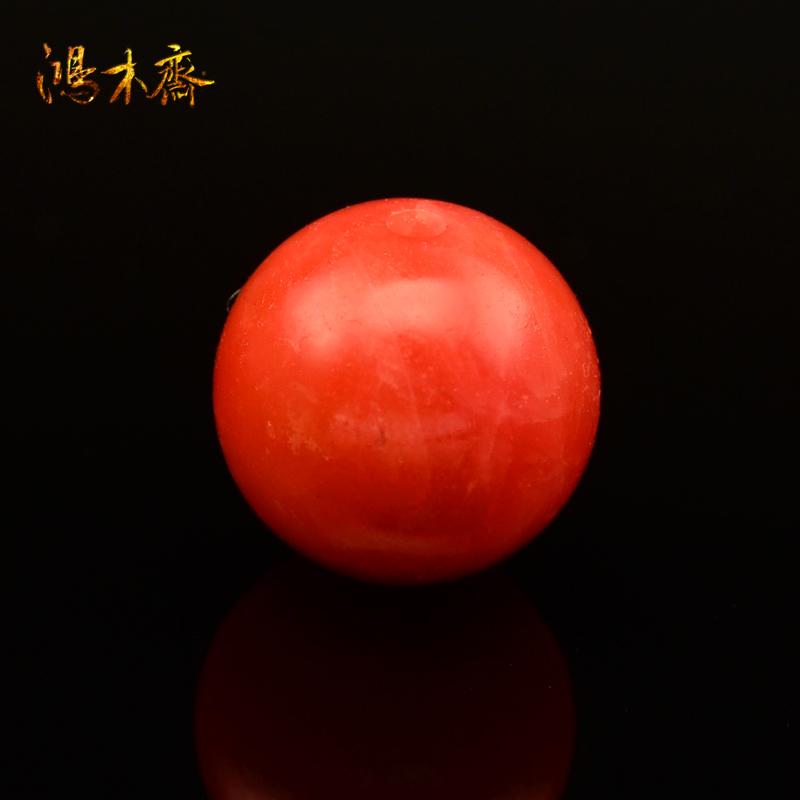 鸿木斋 天然南红玛瑙散珠 保山南红 单珠 N1909 (2).JPG