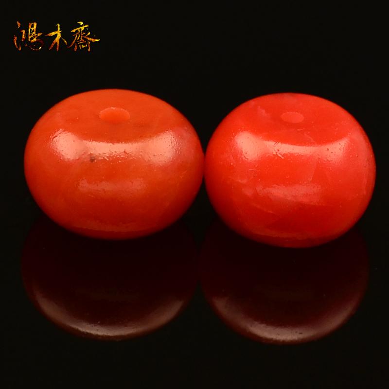 鸿木斋 南红玛瑙散珠 纯天然保山南红 腰珠 孤品 N1969 (2).JPG