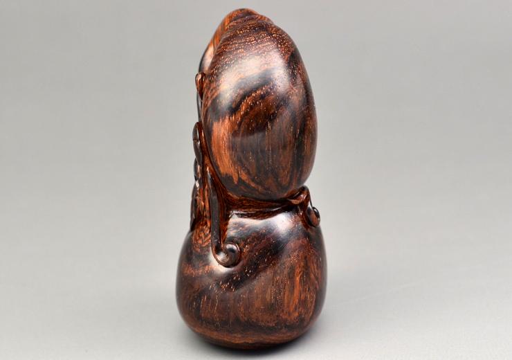 鸿木斋 海黄百吉雕刻 葫芦 黄花梨手把件 孤品 H4659 (8).JPG