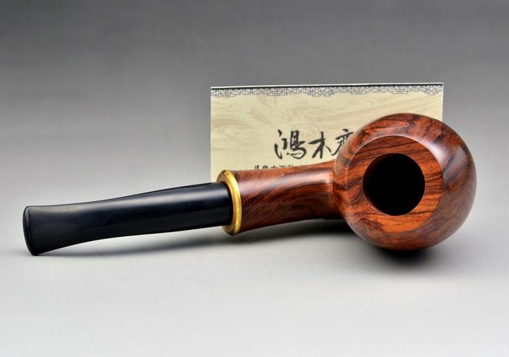 鸿木斋 黄花梨烟斗何 海黄把件 孤品 H4686 (11).JPG