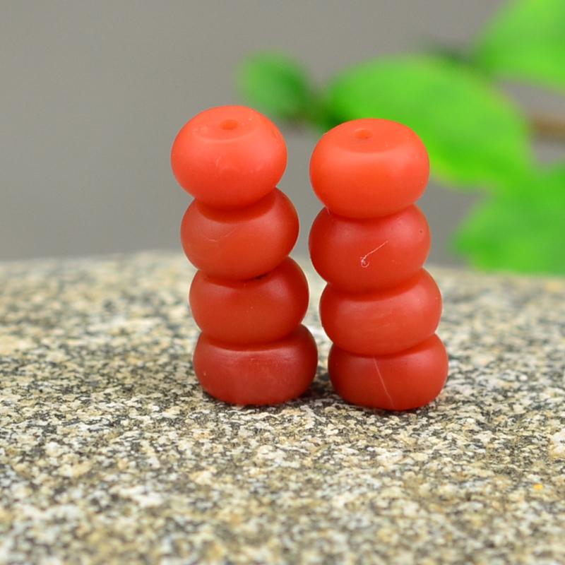 鸿木斋 天然南红散珠 柿子红 保山南红弟子珠 孤品 N2709 (3) - 副本.JPG