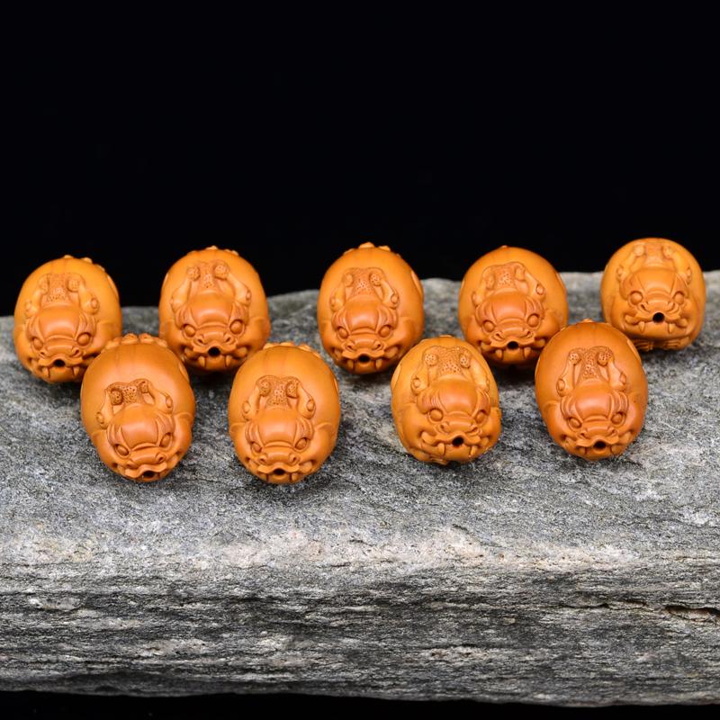 鸿木斋 橄榄核雕 貔貅手链 鸿木斋款 橄榄核雕手串 G88 (2).JPG
