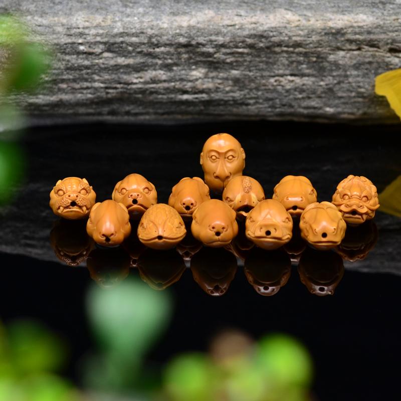 鸿木斋 橄榄核雕 十二生肖兽首 鸿木斋款 橄榄核雕手串 G89 (6).JPG