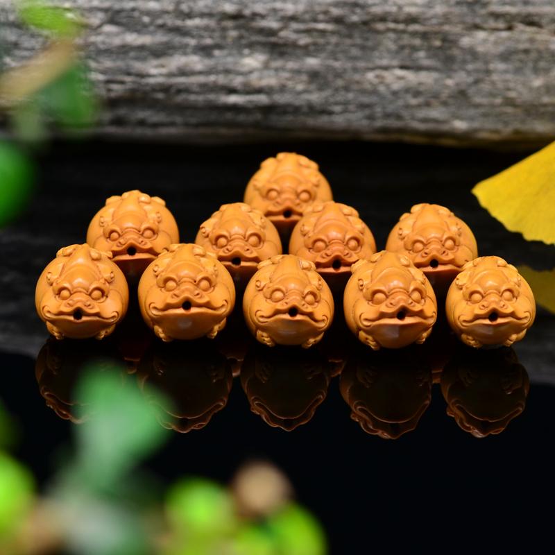 鸿木斋 橄榄核雕 貔貅手链 鸿木斋款 橄榄核雕手串 G91 (6).JPG