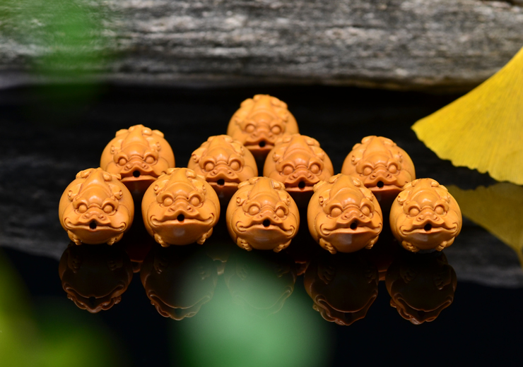 鸿木斋 橄榄核雕 貔貅手链 鸿木斋款 橄榄核雕手串 G91 (14).JPG