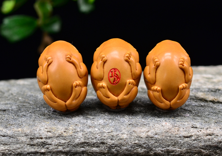 鸿木斋 橄榄核雕 貔貅手链 鸿木斋款 橄榄核雕手串 G91 (12).JPG