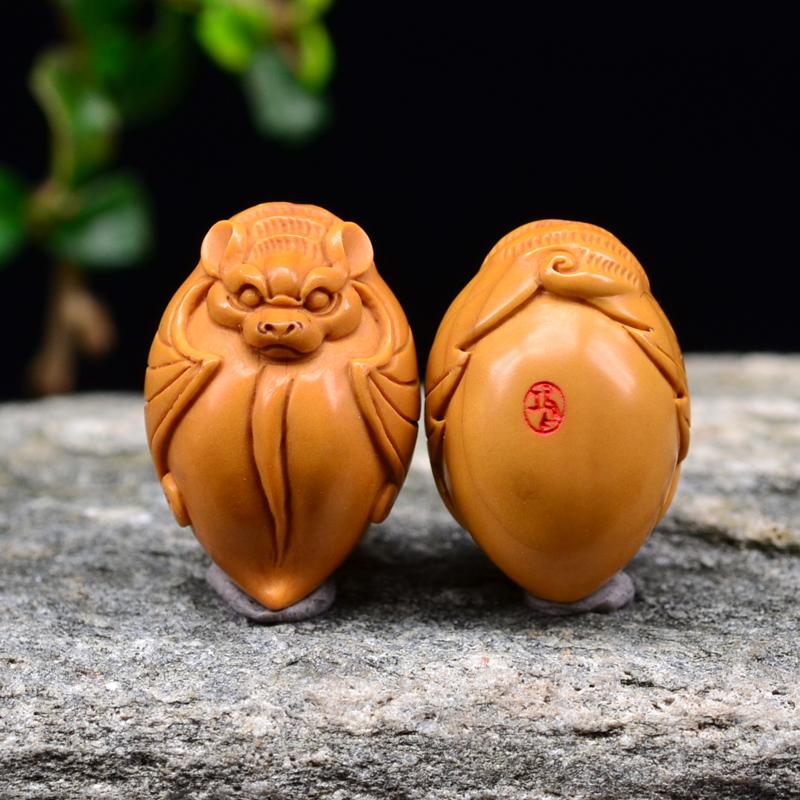 鸿木斋 橄榄核雕 福寿双全 鸿木斋款 橄榄核雕手串 G93 (5).JPG