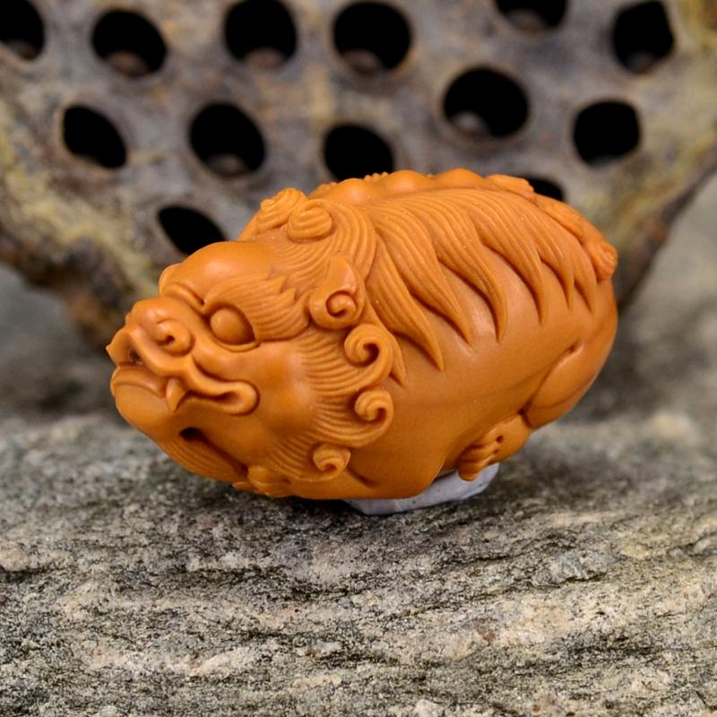 鸿款雕刻橄榄核雕貔貅单籽大核橄榄核手把件G113 (3) - 副本.JPG