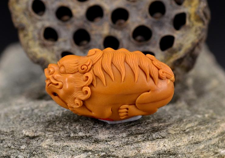 鸿款雕刻橄榄核雕貔貅单籽大核橄榄核手把件G113 (7).JPG