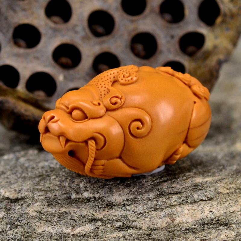 鸿木斋橄榄核雕含财貔貅单籽大核橄榄核手把件G115 (3) - 副本.JPG