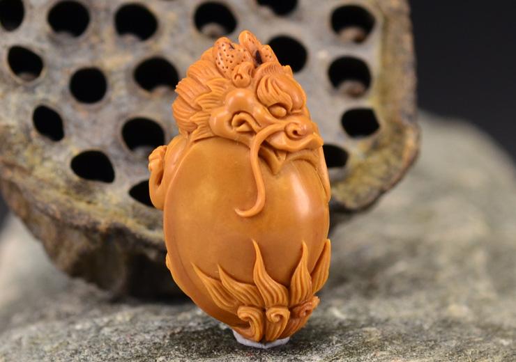 鸿木斋 橄榄核雕龙龟 鸿款雕刻单籽大核橄榄胡手把件 孤品G119 (8).JPG
