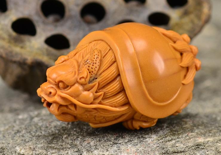 鸿木斋 橄榄核雕龙龟 鸿款雕刻单籽大核橄榄胡手把件 孤品G120 (7).JPG