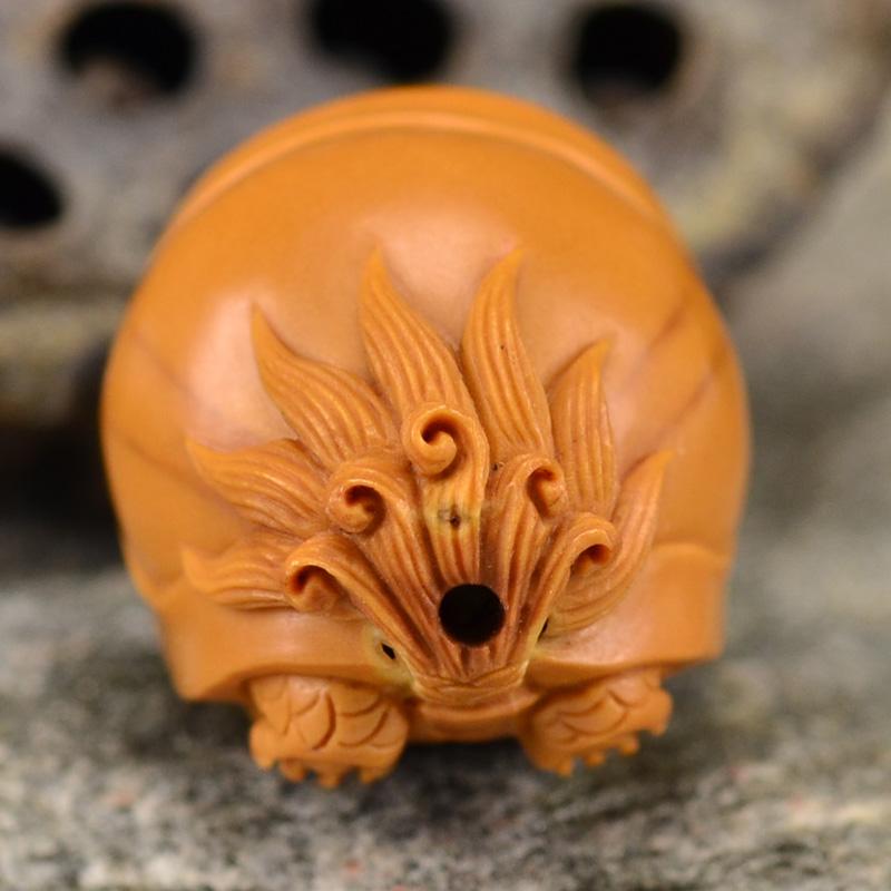 鸿木斋 橄榄核雕龙龟 鸿款雕刻单籽大核橄榄胡手把件 孤品G120 (5).JPG