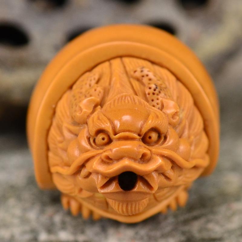 鸿木斋 橄榄核雕龙龟 鸿款雕刻单籽大核橄榄胡手把件 孤品G120 (6).JPG