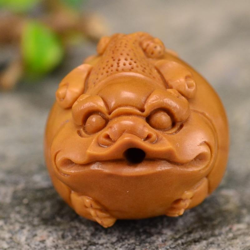 鸿木斋 橄榄核雕貔貅 鸿款雕刻单籽大核橄榄手串 孤品G122 (6).JPG