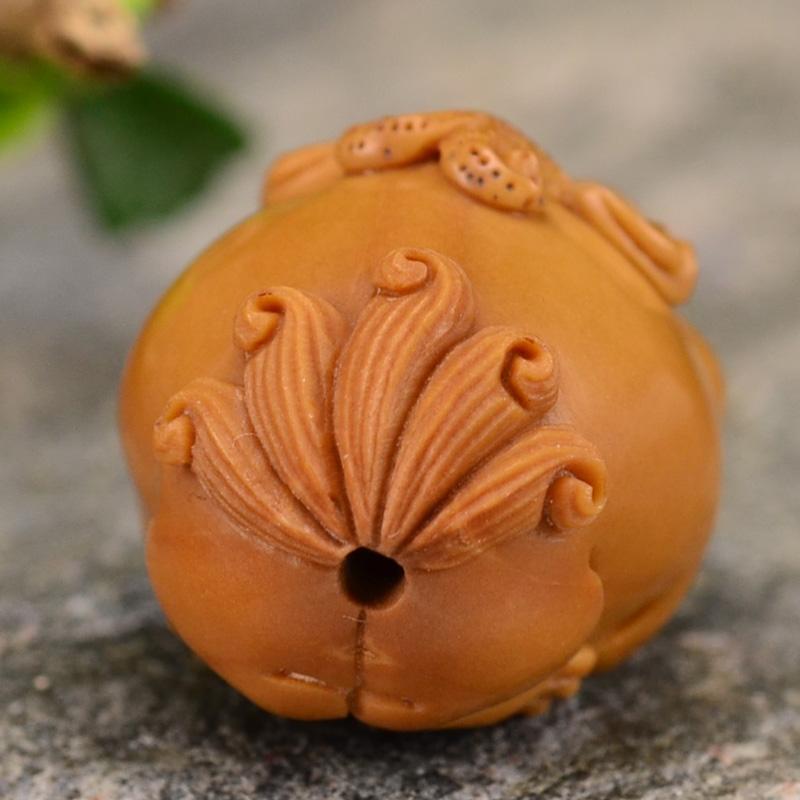鸿木斋 橄榄核雕貔貅 鸿款雕刻单籽大核橄榄手串 孤品G122 (5).JPG