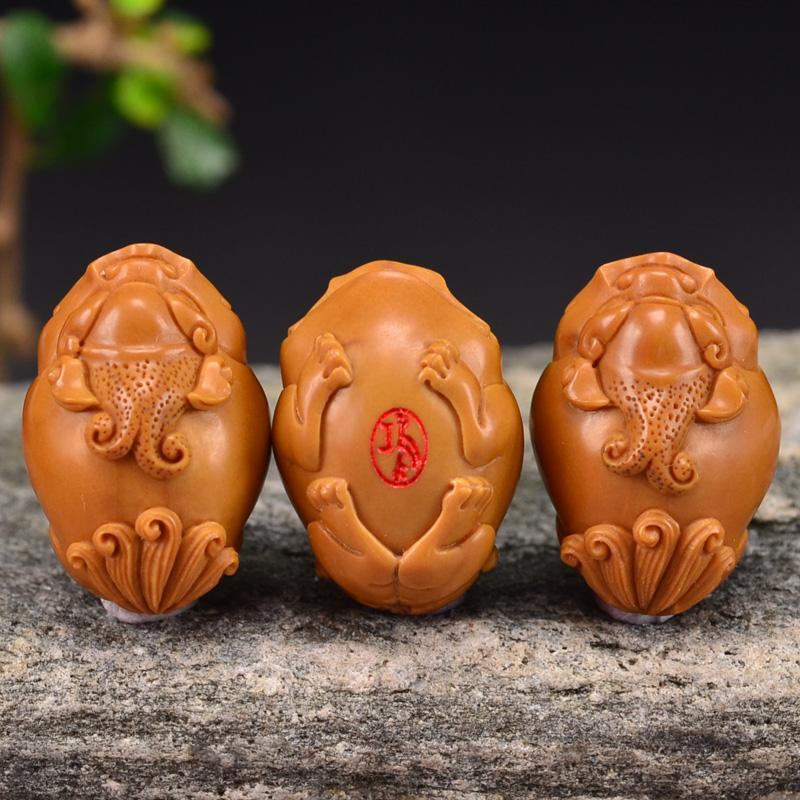 鸿木斋 橄榄核雕貔貅 鸿款雕刻单籽大核橄榄手串 孤品G122 (3).JPG