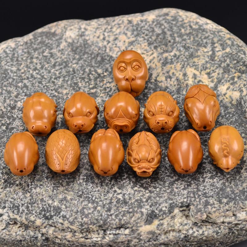 鸿木斋 橄榄核雕十二生肖 鸿款雕刻橄榄胡手串 孤品G123 (3) - 副本.JPG