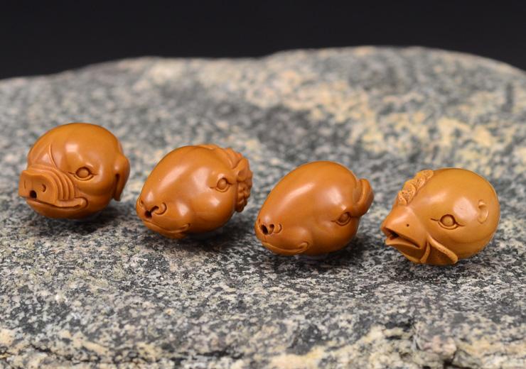 鸿木斋 橄榄核雕十二生肖 鸿款雕刻橄榄胡手串 孤品G123 (22).JPG