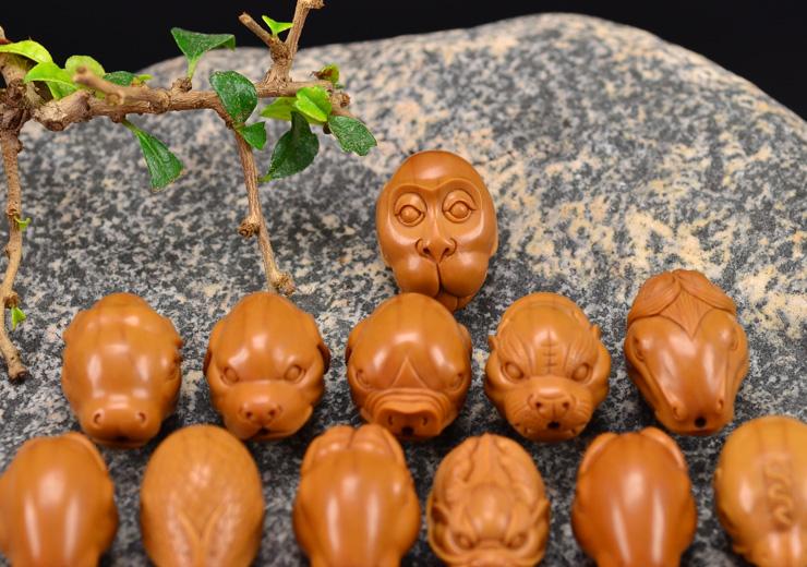 鸿木斋 橄榄核雕十二生肖 鸿款雕刻橄榄胡手串 孤品G123 (9).JPG